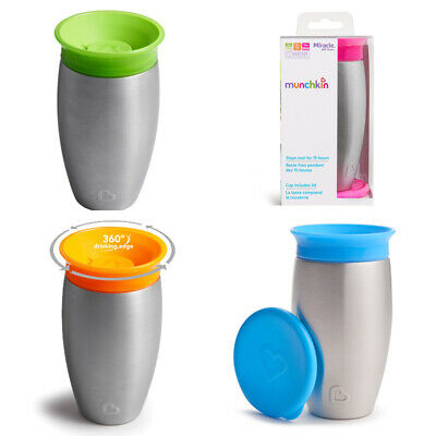 Munchkin Miracle 360° Stainless Steel Sippy Cup (Choice of Colour)  (A83)