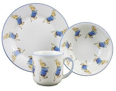 Reutter Porcelain Peter Rabbit Plate Bowl & Mug China Gift Set in box