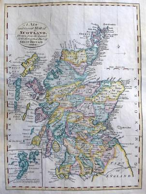 SCOTLAND BY CORNELIUS PAAS  c1800  GENUINE COPPER ENGRAVED ANTIQUE  MAP