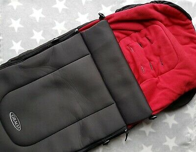 Graco Cosy Toe Sleeping Bag Foot Muff Black Red - from Symbio model