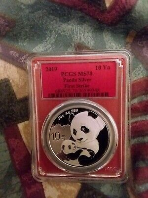 2019 30g Silver China Panda 10Yn PCGS MS70 FIRST STRIKE RED CORE Red Label