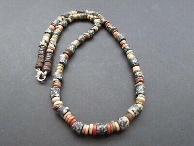 NILE  Ancient Egyptian Amulet Mummy Bead Necklace ca 600 BC
