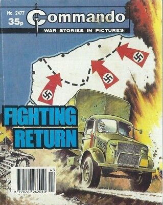 Fighting Return,commando War Stories In Pictures,no.2477,war Comic,1991