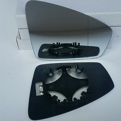 Côté Gauche Bleu Grand Angle Wing Door Mirror Glass for Peugeot 3008 09-16