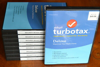 2016 TurboTax Deluxe Federal and State Turbo Tax New CD in DVD case Free S/H