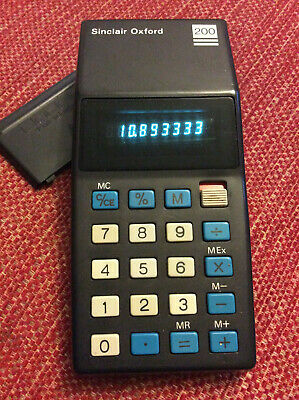 Sinclair Oxford 200 calculator with power supply
