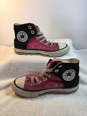 CONVERSE  All Star Junior Girls Hightop Pink Canvas Shoes Size 11 Chuck Taylor