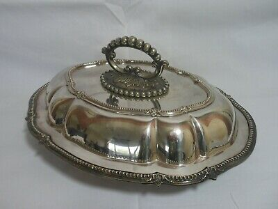 Beautiful Antique Silver Plate Serving Dish