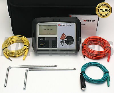 Megger DET3TC 3 Terminal Earth Ground Resistance Tester