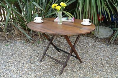 Antique Coaching Table Thorton & Herne Mahogany Victorian Campaign Folding Table