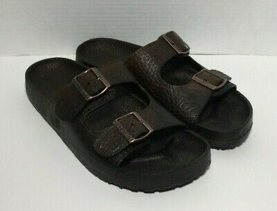 aa3e505ac Pali Hawaii Buckle Sandals MEN S SIZE 10 Unisex (Womens size 12) DARK BROWN