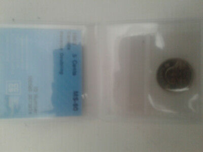 1963 Canada 5 cent nickel Double Reverse (Rare) CCCS graded MS 60 Dot under 3