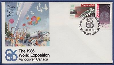1986 Canada FDC - Collector Folder - World Expo, Vancouver