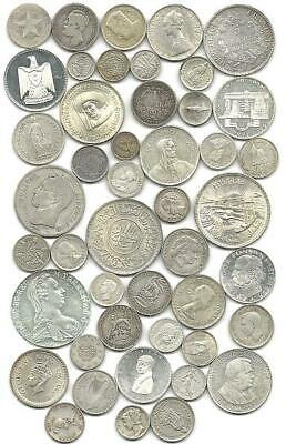 "World (46) Forty Six Old Silver Coins #5180 ""great Big Lot & Low Usa Shipping"""