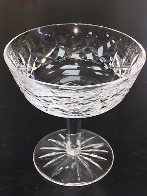 """Waterford Crystal Lismore Champagne Sherbet Glasses 4 1/8"""" Tall"""