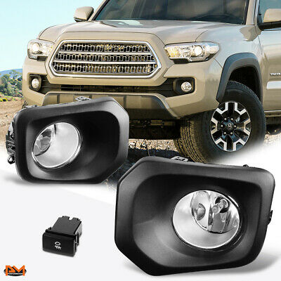 For 16 Tacoma Pickup Truck Clear Lens Front Bumper Driving Fog Light/Lamp+Switch