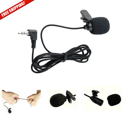 NEW Clip On Lapel Microphone 3.5mm Mini Hands Free Wired Condenser Lavalier Mic