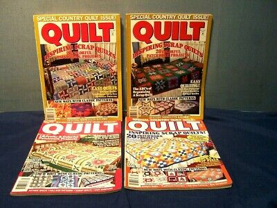LOT of 4 VINTAGE SPECIAL COUNTRY QUILT MAGAZINES FALL 1990, '91, '92, SPRING '92
