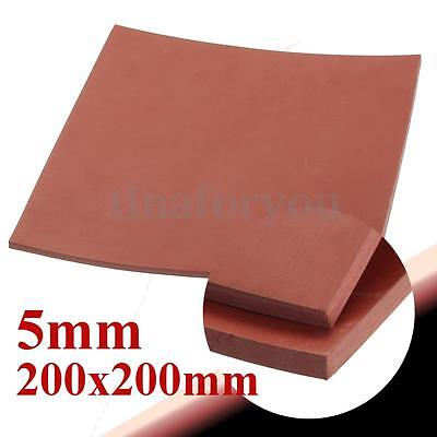 "5mm 1/5"" Thickness 8""x8"" Square Rubber Sheet Chemical Oil Resistance High Red"