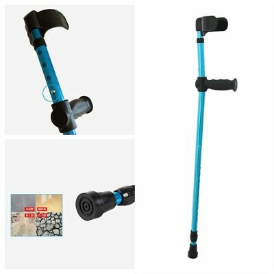Adults Foldable Height Heavy Aluminum Alloy Duty Walking Forearm Crutches Stick