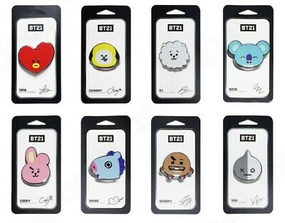 New BTS BT21 Character Official Authentic Goods,Phone Grip Tok Ring Stand Holder