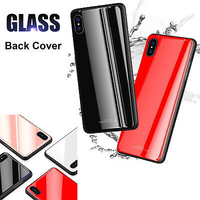 Tempered Glass Back Cover Case For Samsung Galaxy S9/8/Note9 S8 S9 Plus S7 Edge