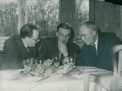 French Foreign Minister Georges Bidault in talks with English Ambassador Sir Oli