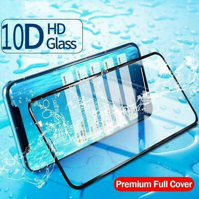 Screen Protector For iPhone X 8 7 6 Plus 10D Curved Full Coverage Tempered Decor