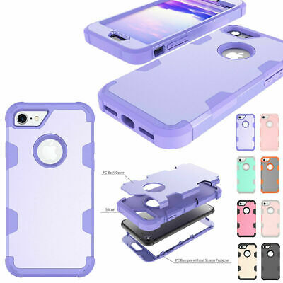 Hybrid Rubber Heavy Duty Shockproof Case For iPhoneX 7 8 6 6s Plus X XR XS Max
