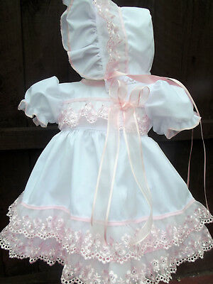 DREAM SPANISH PINK BLUE   SUMMER  DRESS HBD  0-7 years OR REBORN DOLLS