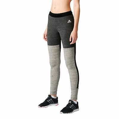 Adidas Originals Linear Womens Leggings Fitness Gym All Sports Grey Size - S M L