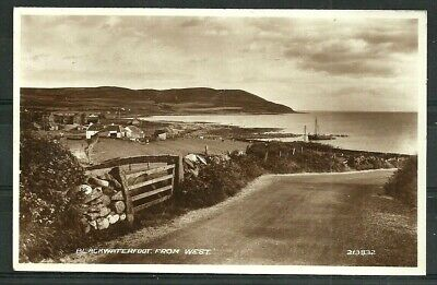 Postcard  : Isle of Arran village of Blackwaterfoot from west, a real photo
