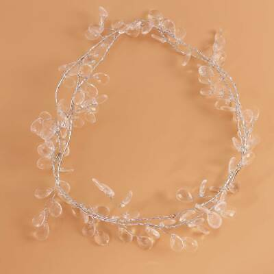Acrylic Water Drop Crystal Bead Chain Beads Aluminum Wire Wedding Decor CB
