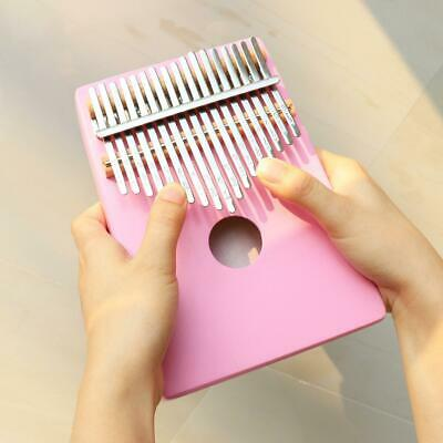 17 Key Thumb Piano Kalimba Single Board Pine Mbira Keyboard Instrument Kids Gift