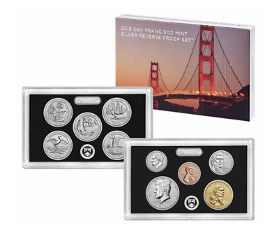 2018 S Silver Reverse Proof Set Limited 50th Anniversary - Sold out! - COA, OGP