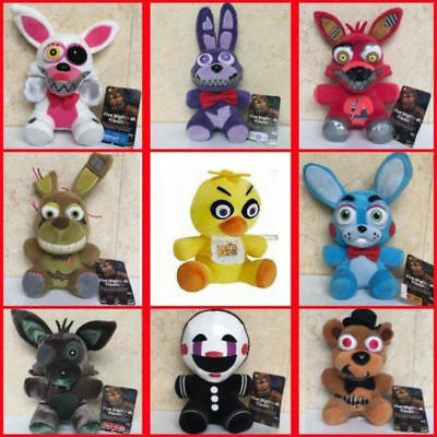 FNAF Five Nights at Freddys Plush toy Bear Foxy Bonnie Chica Animal Doll Gifts