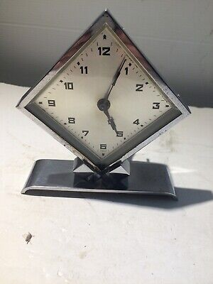 1930's Chrome Art Deco 30 Hour Clock