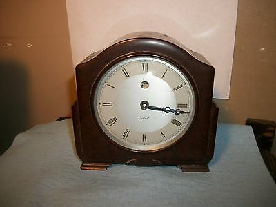 "Vintage SMITH SECTRIC ""CLOCK"" FOR PARTS/ RESTORATION BAKELITE MID-CENTURY MANTLE"