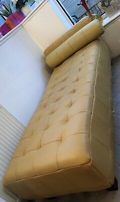 1970's Retro Leather Chaise Longue Yellow