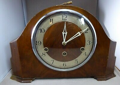 Enfield Clock Company Westminster Chimes Mantel Clock with Key (Working)