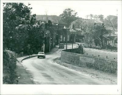 Road in North Elmham. - Vintage photo
