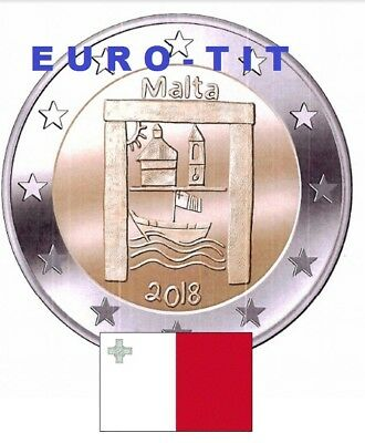 LOT DE 2  X 2 € MALTE COMMEMO 320 000  ex  PATRIMOINE CULTUREL / 2018 disponible