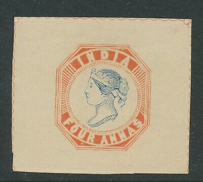 INDIA 1891 - REPRINT OF THE 1854 'FOUR ANNAS' with SPECIMEN on reverse      913g