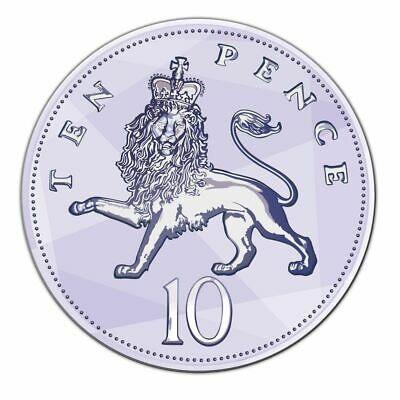 2008 10P Pence Lion - Crowned -Ten Pence - Scarce Date - Low Mintage