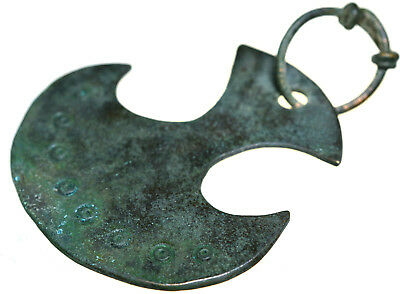Viking Bronze Axe Shaped Amulet Pendant