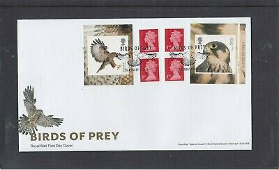 GB 2019 Birds of Prey retail stamp booklet cylinderW1 FDC Barnsley special pmk