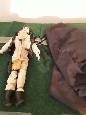 12in action figure pilot with parchute