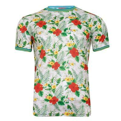 Mens Brave Soul Fun Print Matching Hawaiian T-Shirts and Shorts