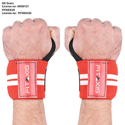 FITAXIS Hand Straps Wrist Support Bands Gym XFit Crossfit Curling Exercise