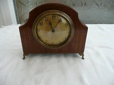 Antique, French Bedroom  Mantle Clock in Beautiful Inlaid Case, Needs Attention.
